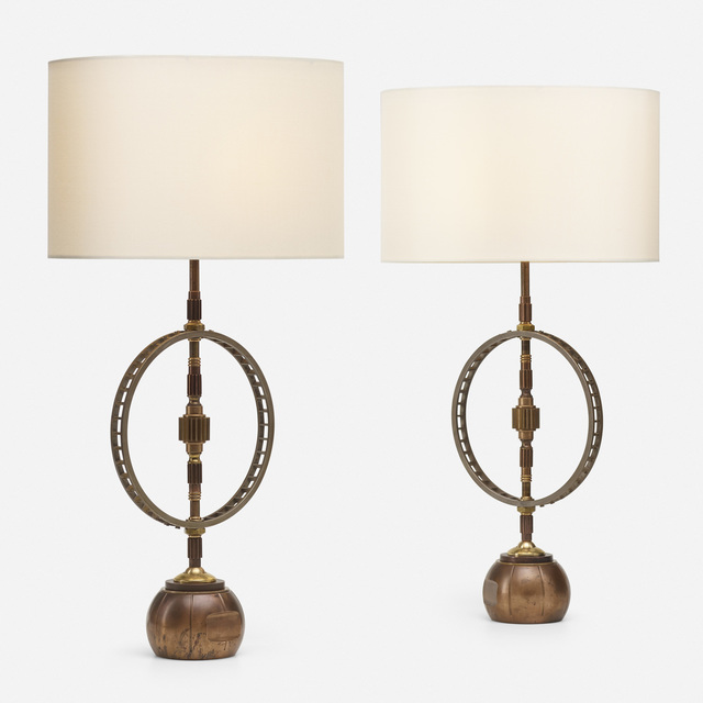 Gianni Vallino, 'Industrial Reliquary table lamps, pair', 2019, Rago/Wright