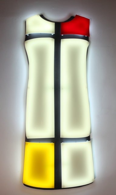 Nicolas Saint Grégoire, 'Mondrian Dress 2', 2009, Installation, Wall mounted light sculpture using Murano crystal cold cathode tube lighting and Perspex, Cynthia Corbett Gallery