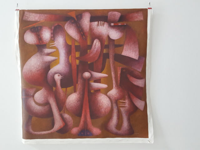 , 'Red Cactus,' , Rimonim Art Gallery