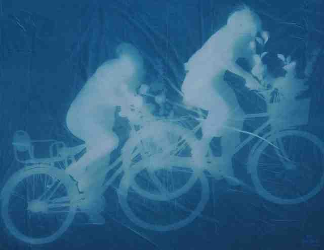 , 'Man and Woman on Bikes,' 2010.05.31, Pékin Fine Arts