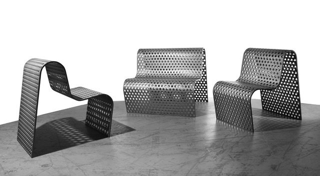 , 'Perforated Metal Settee + Chairs,' 1988-1989, Geoffrey Diner Gallery