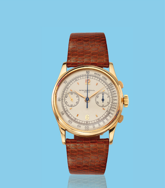 , 'Yellow gold oversized chronograph wristwatch, ref. 530,' ca. 1940, Davide Parmegiani Fine Watches