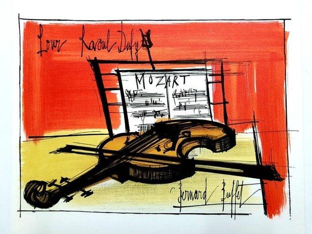 """Bernard Buffet, 'Lithograph """"Homage to Raoul Dufy"""" after Bernard Buffet', 1965, Galerie Philia"""
