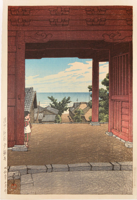 , 'Tamon Temple at Hamahagi in Boshu,' 1934, Ronin Gallery