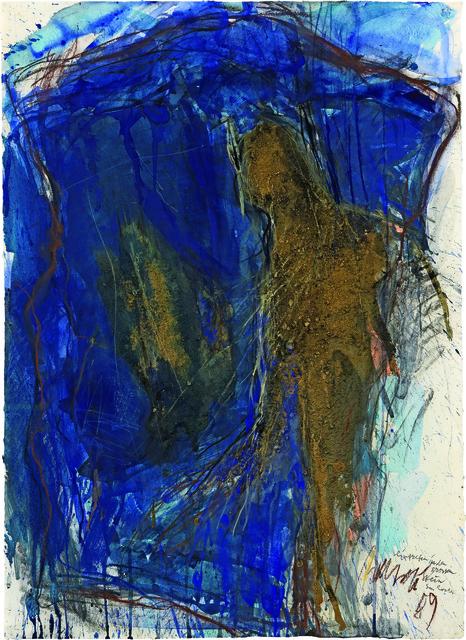 , 'Eintreten in den grossen Stein Sous Roches,' 1989, Galerie Carzaniga