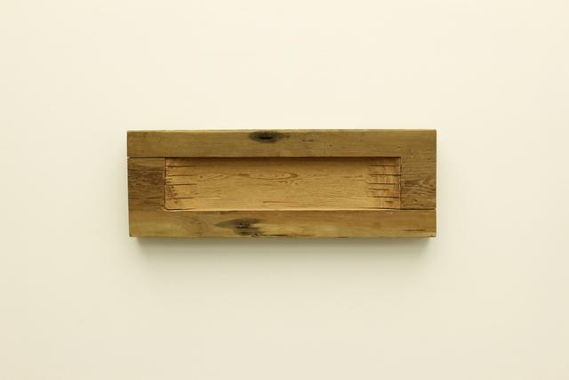 , 'Untitled (wood wall horiz dugout),' 2014, Galerie Hans Mayer