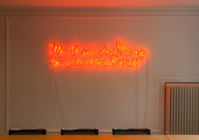 , 'we shall be strong in our weakness,' 2012, Manifesta Foundation