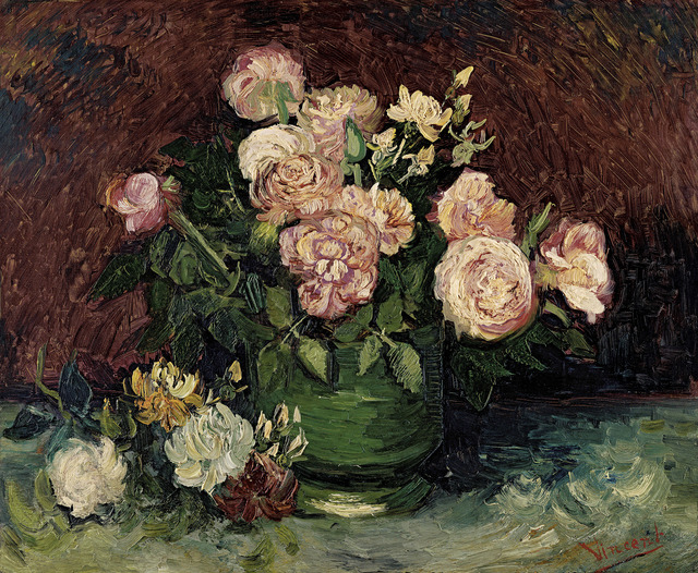 , 'Roses and Peonies,' 1886, National Gallery of Victoria