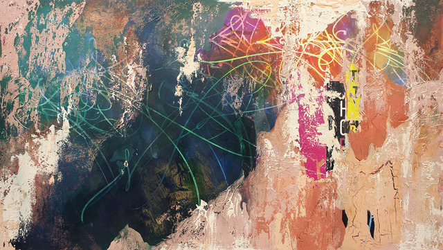 José Parlá, 'Habana y Cuarteles', 2015, Painting, Acrylic, plaster and collage on canvas, Bryce Wolkowitz Gallery
