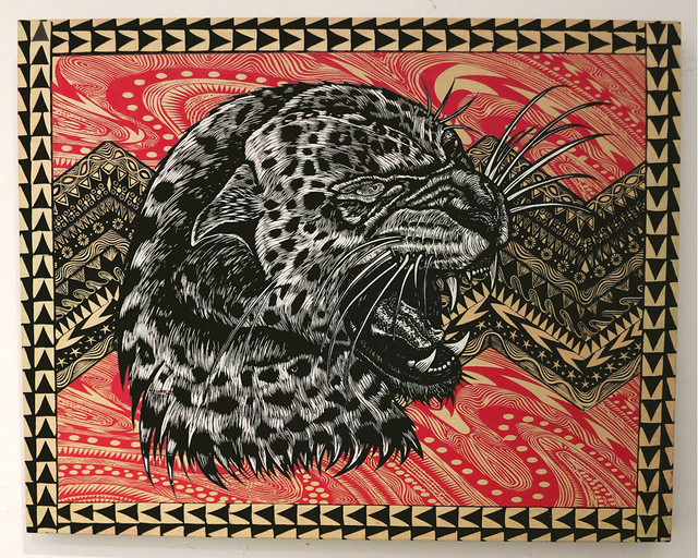 , 'Leopard Profile,' 2013, Jonathan LeVine Projects