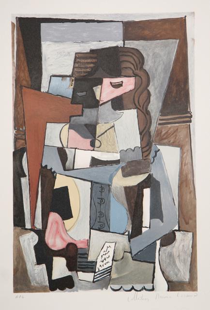 Pablo Picasso, 'Femme au Corset Tesant un Livre, 1914', 1979-1982, Print, Lithograph on Arches paper, RoGallery