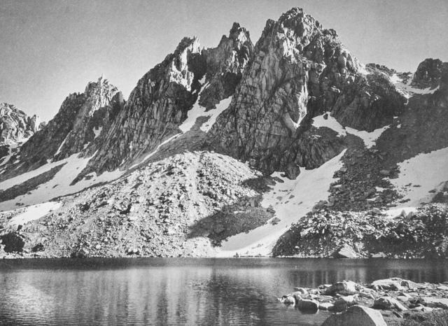 Ansel Adams, 'Kearsarge Pinnacles in Kings River Sierra', 1939, White Cross