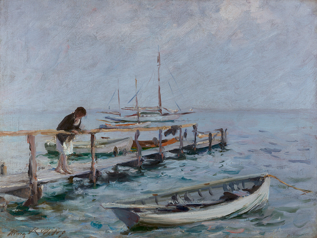 Irving Ramsey Wiles, 'On the Dock', Questroyal Fine Art