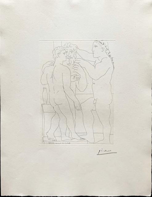 Pablo Picasso, 'Jeune Sculpteur Grec avec sa sculpture: Un homme et un Ephebe', 1933, Fairhead Fine Art Limited