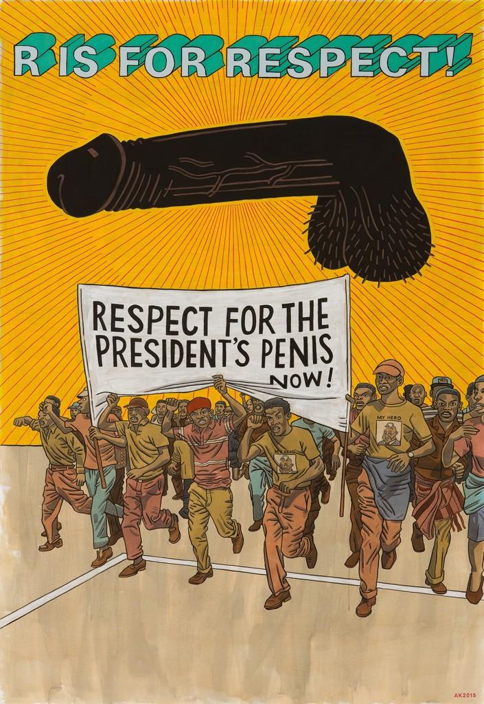 , 'R is for Respect,' 2015, Galerie Ernst Hilger