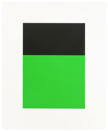 "Black/Green II, from ""Series of Ten Lithographs"""