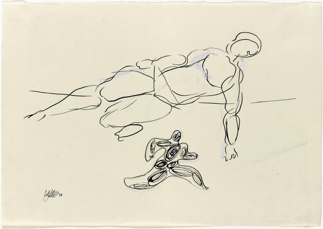 , 'Hochsprung und Läufer (High Jump and Runner),' 1928, Galerie Klaus Gerrit Friese