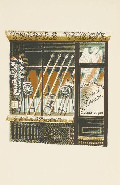 Eric Ravilious, ''UNDERTAKER'', c.1938, Print, Lithograph, Sworders