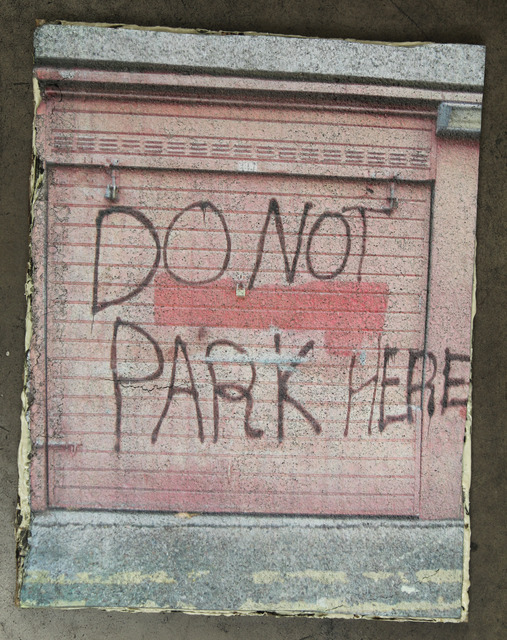 , 'National Heritage: Do not park here!,' 2012, Baró Galeria