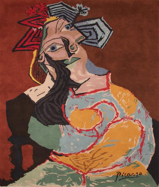""", '""""Femme accoudée au drapeau bleu et rouge"""",' 1980, Jane Kahan Gallery"""