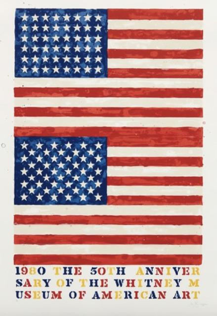 Jasper Johns, 'Two Flags (Whitney Anniversary)', 1980, Upsilon Gallery