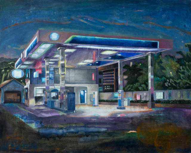 , 'Night-Gas Station,' 2017, ONE AND J. Gallery