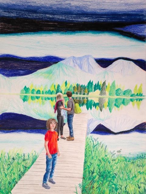 , 'Day at the lake,' 2018, Kolja Kramer Fine Arts