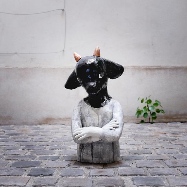 , 'Goat bust,' 2018, Antonine Catzéflis