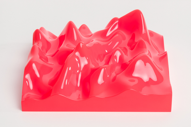 , 'Unknown Pleasure, Fluro Orange,' 2015, Paul Stolper Gallery