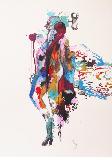 Frank David Valdés, 'Dos en uno / Two in one', 2021, Painting, Mixed media on paper, ArteMorfosis - Cuban Art Platform