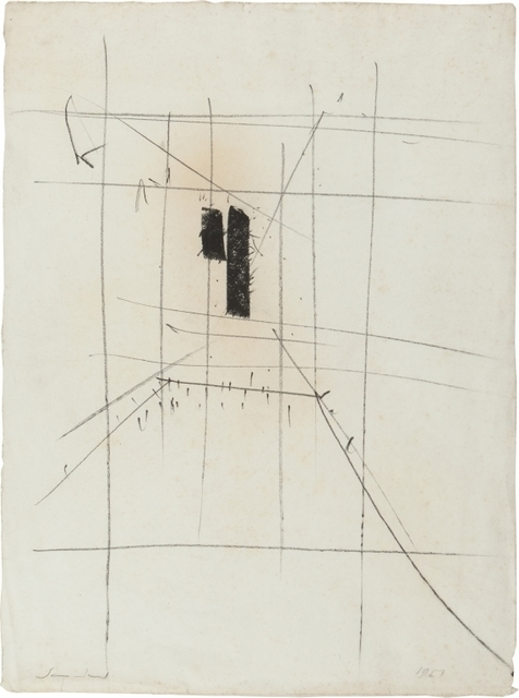 Emilio Scanavino, 'Untitled', 1961, Drawing, Collage or other Work on Paper, Pencil on paper, Aste Boetto