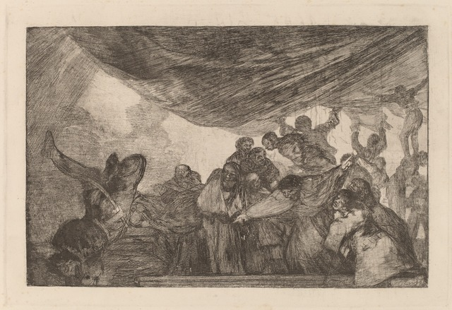 Francisco de Goya, 'Disparate claro (Clear Folly)', in or after 1816, Print, Etching, burnished aquatint and lavis  [trial proof printed posthumously circa 1854-1863], National Gallery of Art, Washington, D.C.