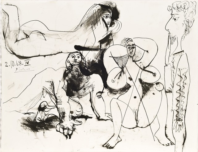 , 'Quatre personnages, 2 October 1968,' 1968, Opera Gallery
