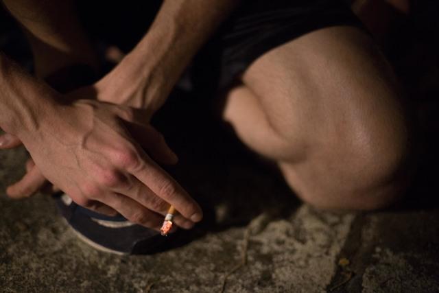 , 'Karl Smoking,' 2013, David Zwirner