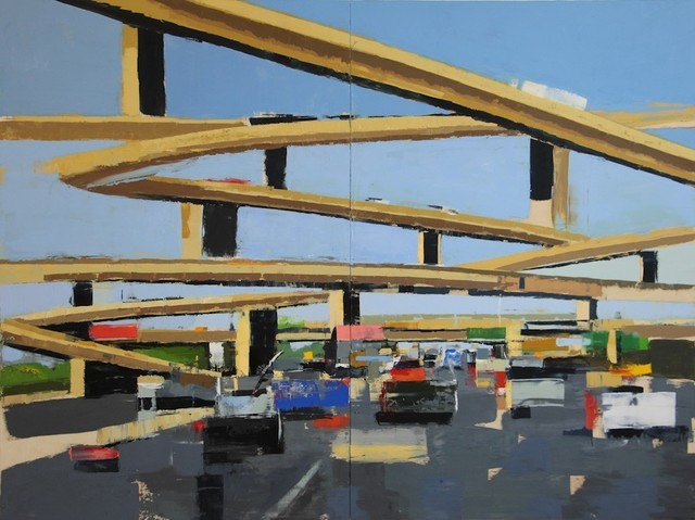 , 'Freeway No. 13 ( diptych) / oil on panel,' 2018, Andra Norris Gallery