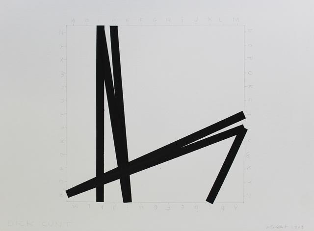 , 'Dick / Cunt,' 1979, Galerie Hervé Bize