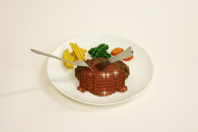 , 'Low pixel CG, Hamburger Steak,' 2012, Micheko Galerie