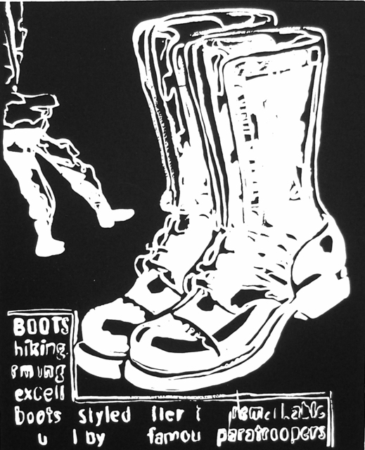 , 'Paratrooper Boots (negative),' 1985-1986, Ravizza Brownfield Gallery