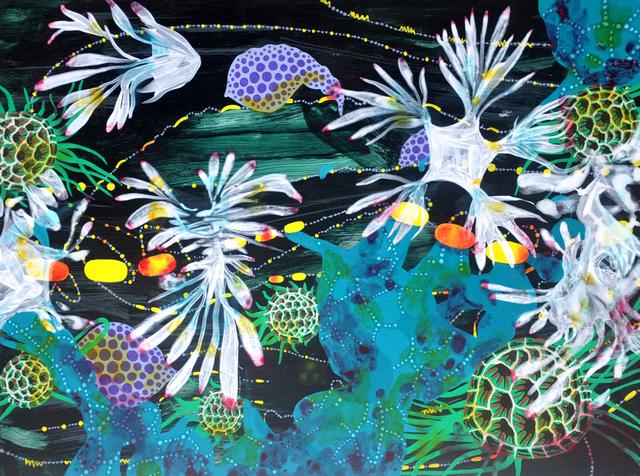 , 'Trail of Fireflies: Vapor from the Sea,' 2017, Lois Lambert Gallery
