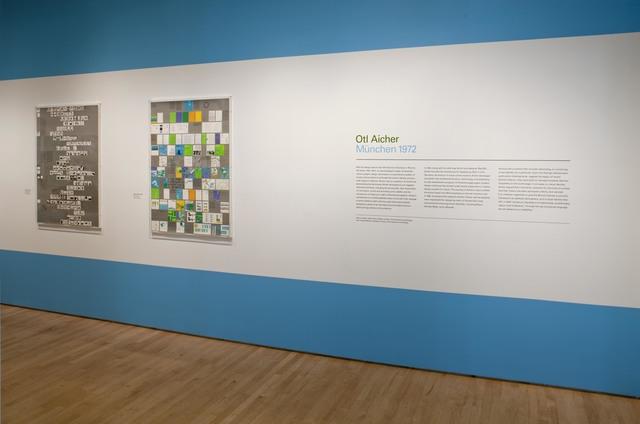 "Otl Aicher, 'Installation view ""Otl Aicher: München 1972"", 2009', San Francisco Museum of Modern Art (SFMOMA)"