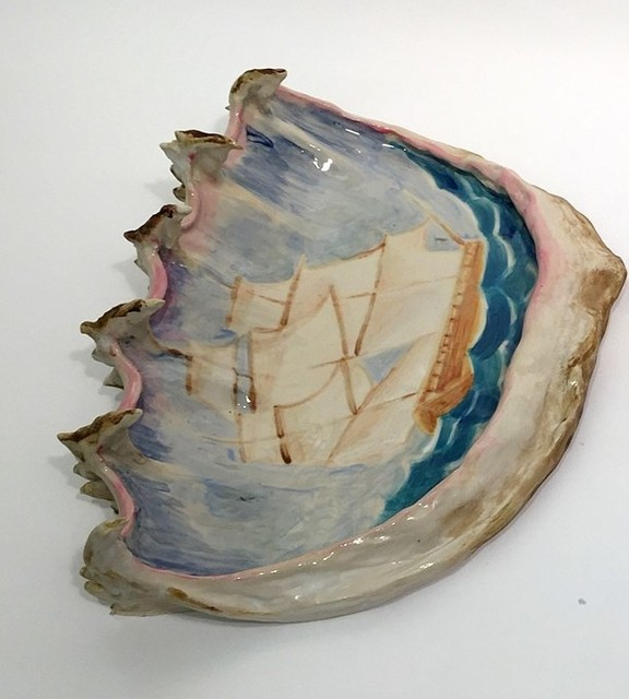 , 'Clipper Ship and Clam Shell 2,' 2017, Burning in Water