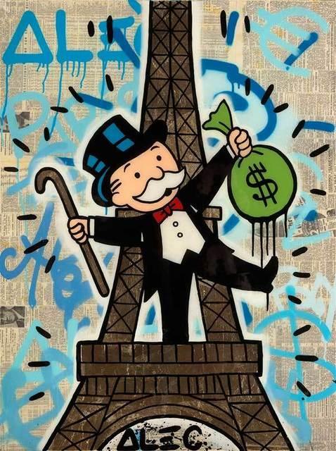 , 'Monopoly Eiffel Tower w/ Cane & Money Bag,' 2017, Eden Fine Art