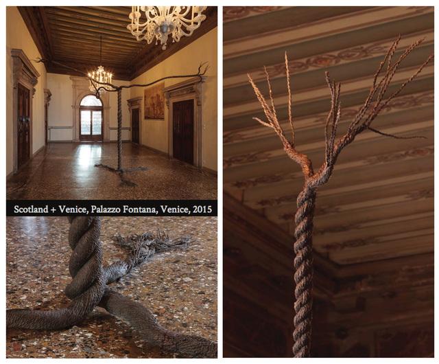 , 'Rope Tree  #1/1  (installation views, 56th International Art Exhibition, La Biennale di Venezia, 2015 Palazzo Fontana, Venice),' 2015, Maus Contemporary