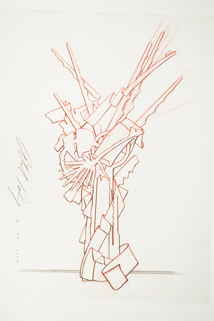 """Albert Paley, 'Proposal Drawing for """"Tribute""""', 2010, Alpha 137 Gallery"""