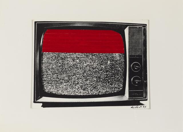 , 'Red Taped TV Screen,' 1974, Henrique Faria Fine Art