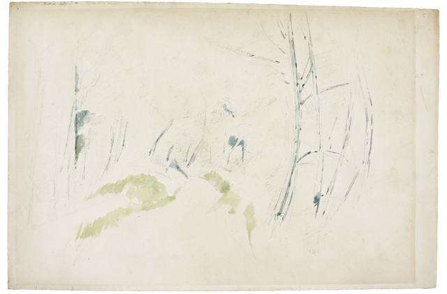 Paul Cézanne, 'Le Sentier', ca. 1890, Drawing, Collage or other Work on Paper, Watercolour and pencil on paper, Bernard Jacobson Gallery