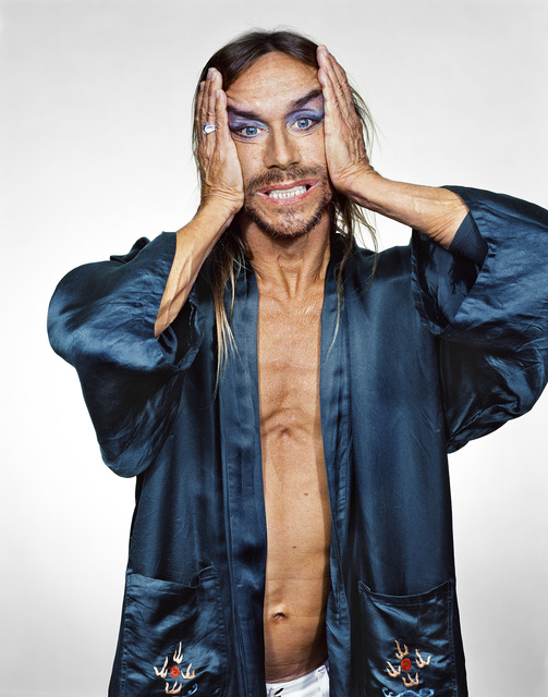 , 'Iggy Pop in Blue Robe,' 2001, CAMERA WORK