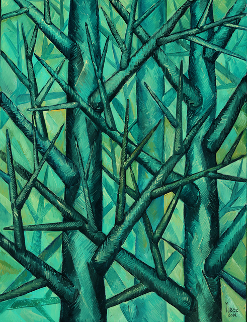 , 'Trees in Green (Study),' 2014, Moso Art Gallery