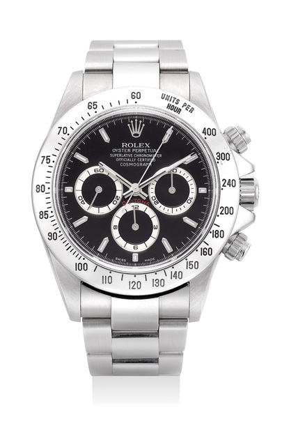 Rolex, 'A very fine and attractive stainless steel chronograph wristwatch with guarantee and fitted presentation box', 1999, Phillips
