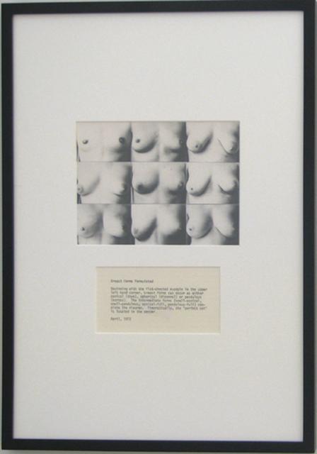 , 'Breast Forms Permutated,' 1972/2008, P.P.O.W